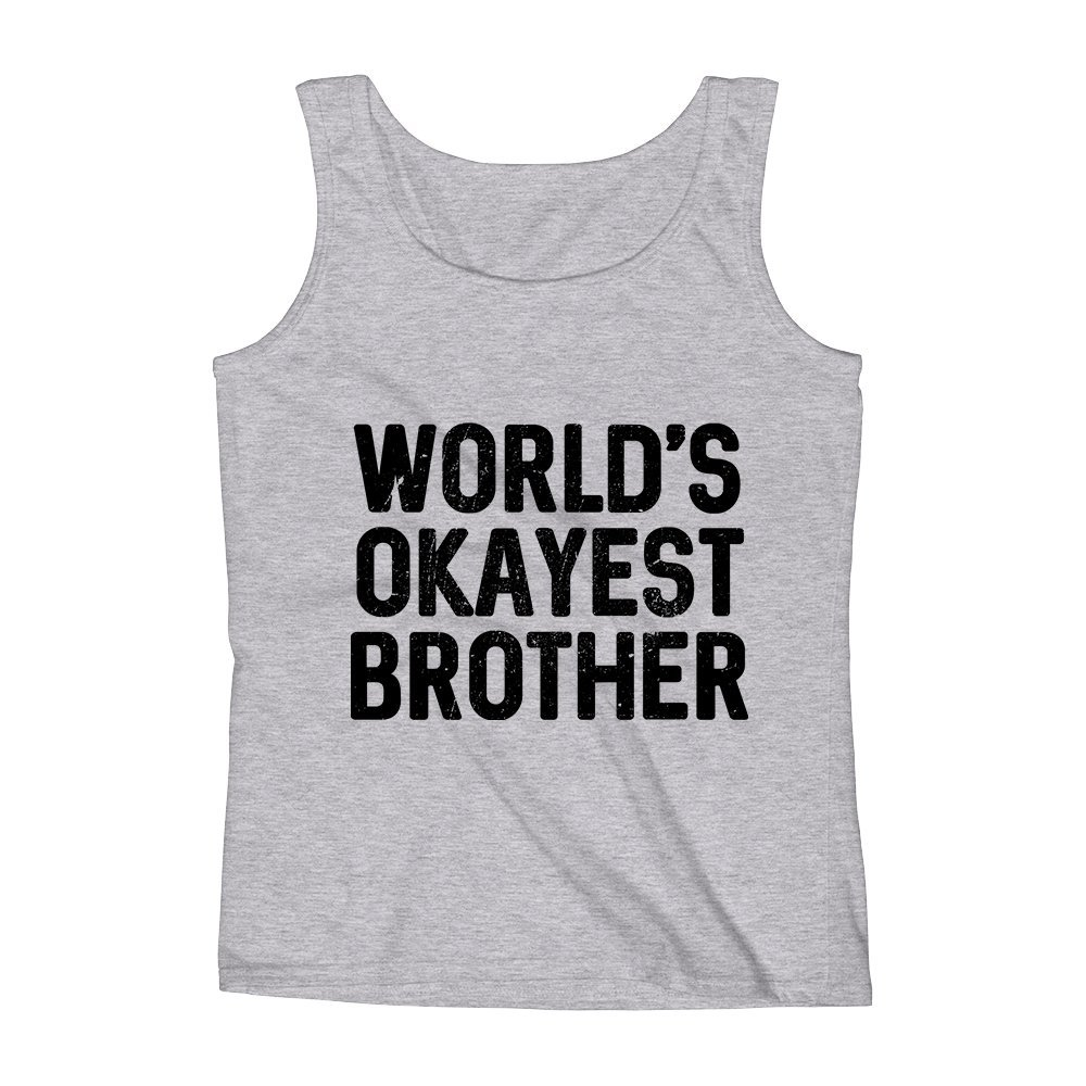 Mad Over Shirts Worlds Okayest Brother Unisex Premium Tank Top