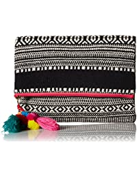'ale by alessandra Women's Segovia Tribal Foldable Clutch With Pom Tassel