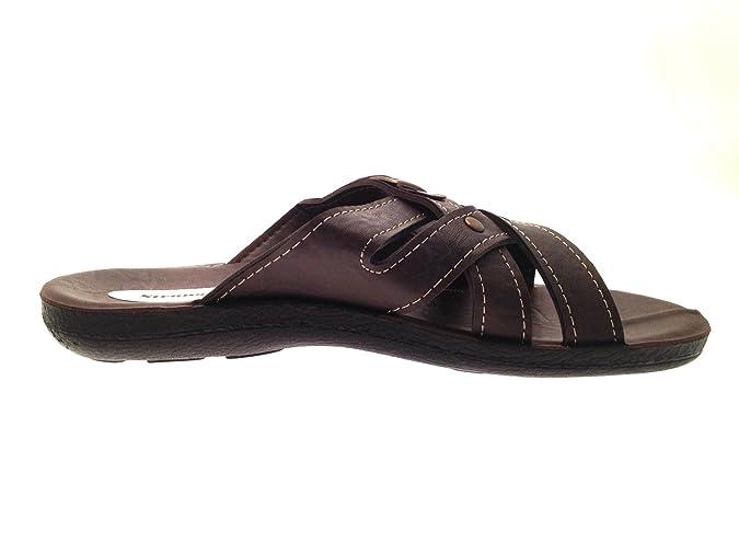 d14d16df5684 MENS VINTAGE FLIP FLOPS BEACH HOLIDAY SANDALS FAUX LEATHER MULES SLIP ONS  size 6-11  Amazon.co.uk  Shoes   Bags