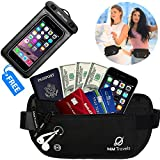 Money Belt For Travel - Passport Keeper - Hidden Belt Travel Wallet - Travel Waist Pack - Travel Money Pouch - Travel Fanny Pack - Travel Belt For Money And Passport
