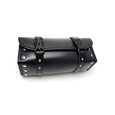 Motorcycle Fork Bag Handlebar Bag PU Leather Storage Tool Bags Organizer With 2 Straps: Automotive