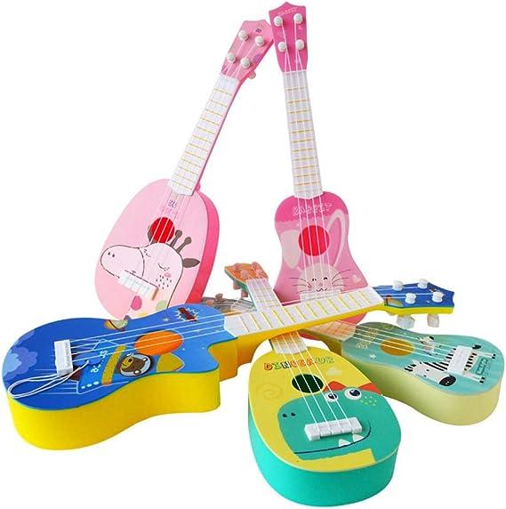 Ukelele para niños, instrumento de simulación de dibujos animados ...