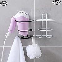 Cool Bell 1 Pc Self Adhesive Hair Dryer Holder Bathroom Wall Storage Shelf Organizer Stand Hooks