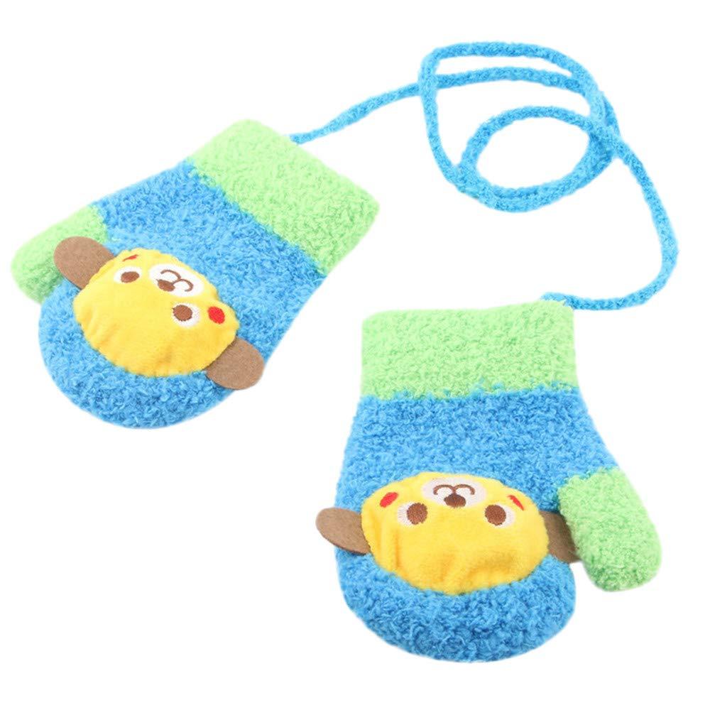 Gallity Cute Cartoon Plush Thicken Hot Infant Baby Girls Boys Winter Warm Gloves