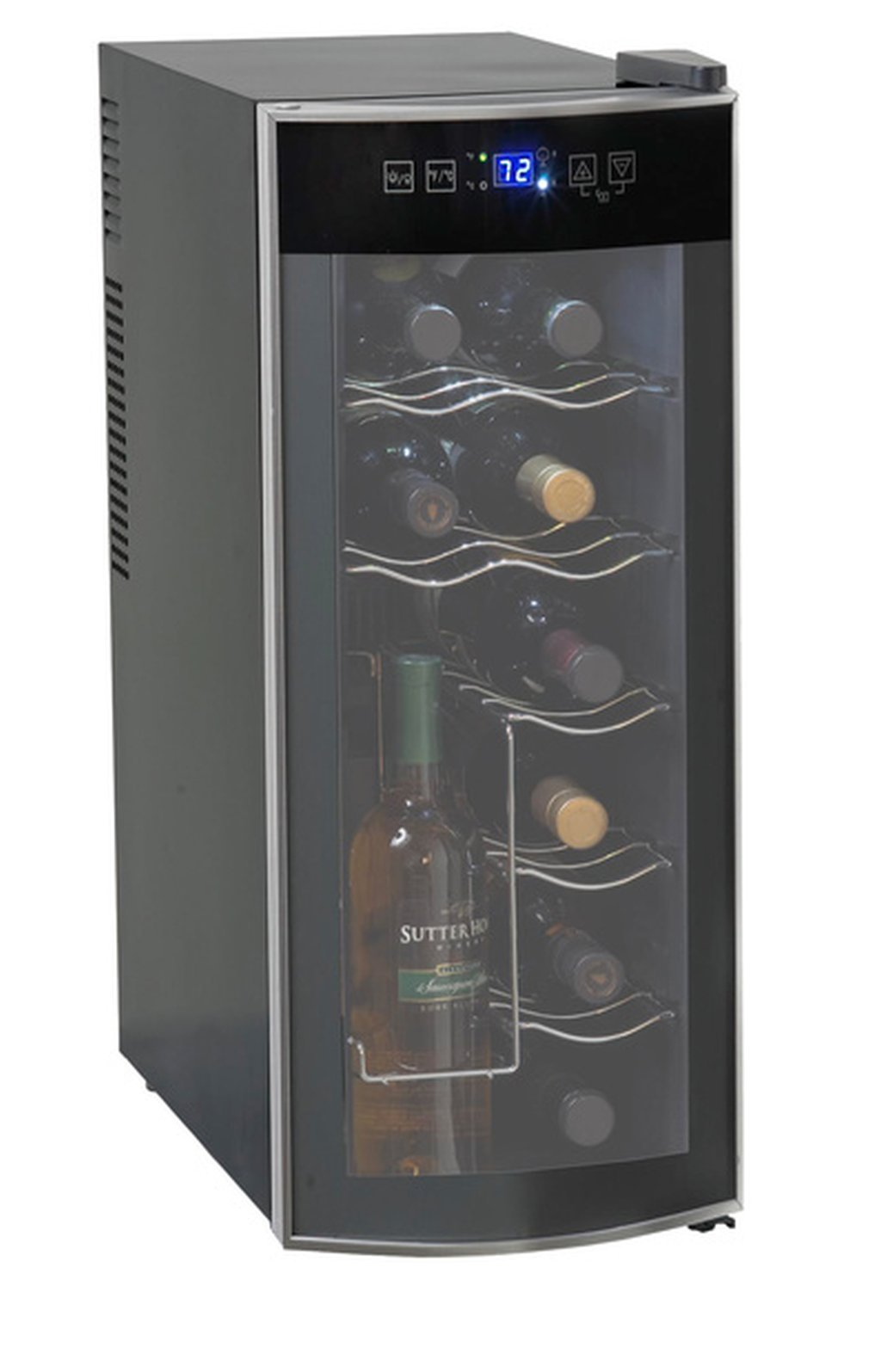 Galleon - 12-Bottle Wine Cooler, Soft-Touch Digital Display