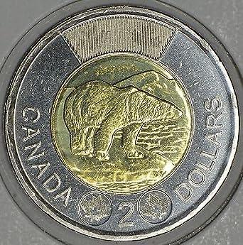 UNC From mint roll CANADA 2018 New $2 Toonie ORIGINAL POLAR BEAR