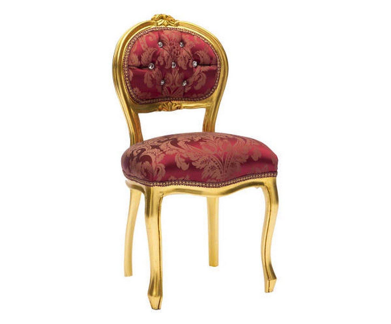 Sedia musicista barocco oro rosso MAXIOCCASIONI