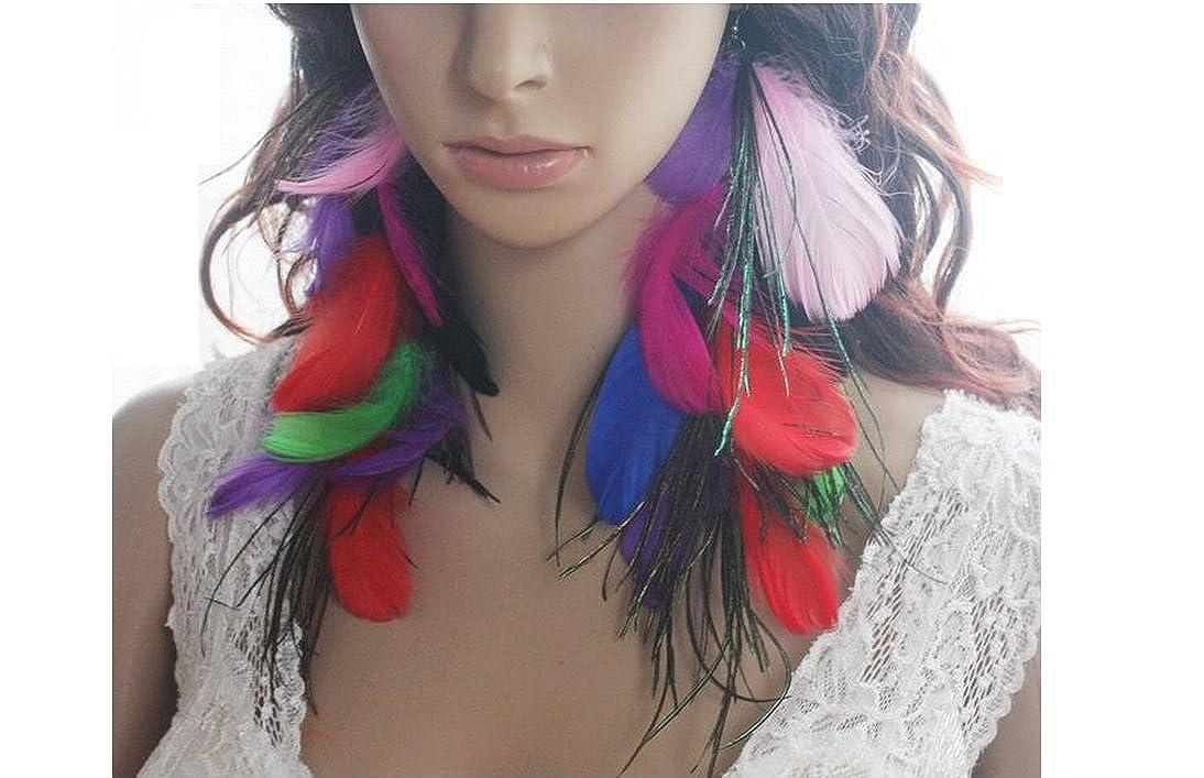 Feather Earrings for Women 28a2-17 Long Feather Earrings for Women