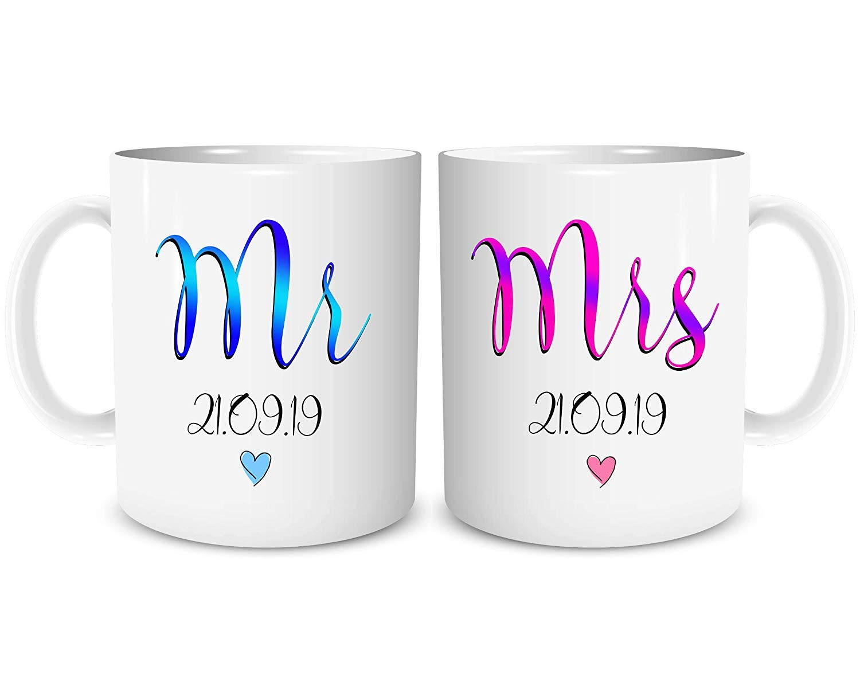 MR /& MRS  Personalise couple gift coffee tea mug wedding anniversary Birthday **