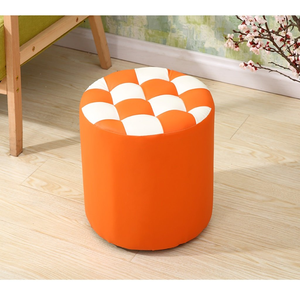 F XIAO YING JF Fashion furniture solid wood stool creative shoe bench variety of color durable Creative Sool (color   G)