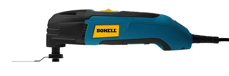 bohell MF300 Multifunktionswerkzeug 300 W, Scratch, Schleifpapier und kurze, einstellbare Geschwindigkeit 15.000 –  22.000 RPM, oszillationswinkel 2.8º