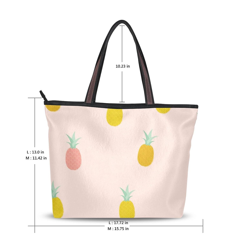 Use4 Womens Fashion Design Cute Pineapple (2) Tote Bags Handbag Shoulder Bag