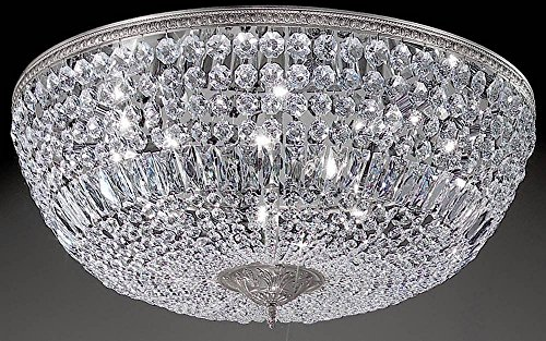 Crystal Baskets 10-Light Ceiling Flush (Silver - Swarovski Spectra)