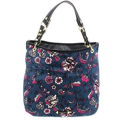 446d090d859 Franco Sarto Womens Cypruss Floral Print Reverisible Tote Handbag Blue  Large  Handbags  Amazon.com