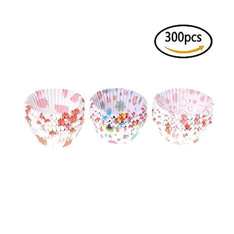 7thlake 300 unidades Tazas de Cup Cake de moldes de papel Hornear Moldes Liner Cupcake Decoración