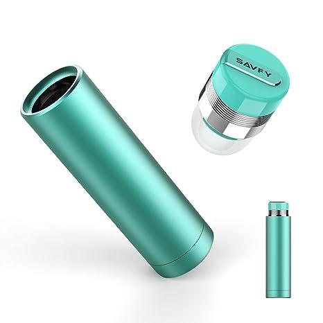Auriculares inalámbricos, SAVFY Mini Bluetooth Auriculares 4.1 Auriculares intraurales con CSV 6.0 micrófono de cancelación