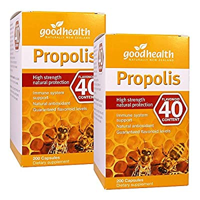 GoodHealth Propolis Flavonoid 40mg 200 Capsules High strength natural protection immune system support Natural antioxidant (Pack of 2)