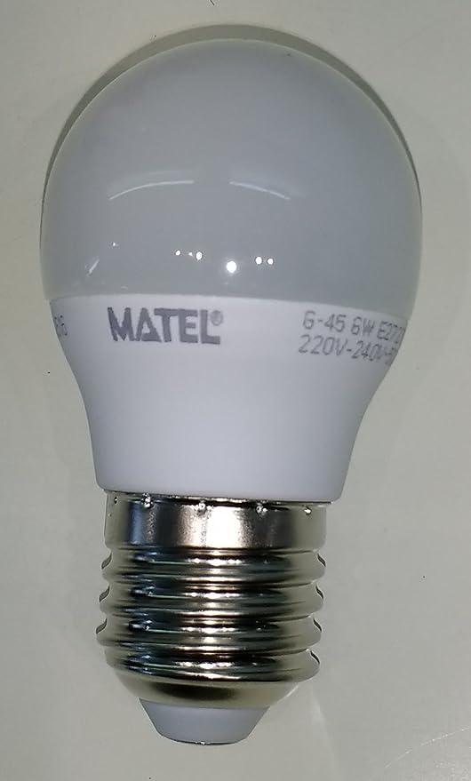 MATEL M288970 - Bombilla led e27 esferica 6w - 550 lumenes