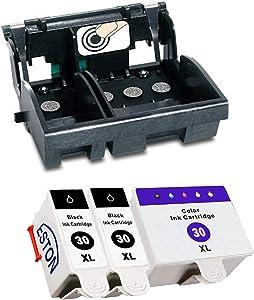 ESTON Compatible Kodak 30 Printhead for ESP 2150 ESP 2170 ESP 3.2 ESP C310 ESP C315 and 3 Pack Compatible Kodak 30XL Ink Cartridge