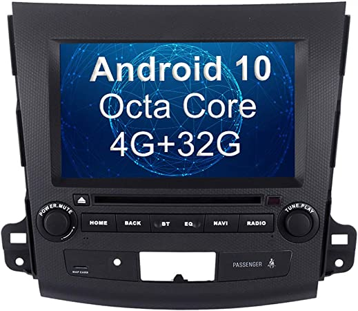 Amazon Com Sygav Android Car Stereo For Mitsubishi Outlander Radio Touch Screen Dash Gps Navigation Head Unit Multimedia Dvd Player Gps Navigation
