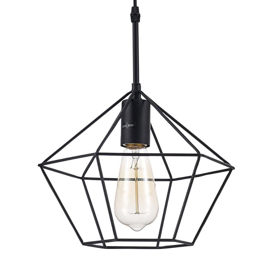 Ohr Lighting Geometric Cage Mini 1 Light Metal Pendnat Cooper