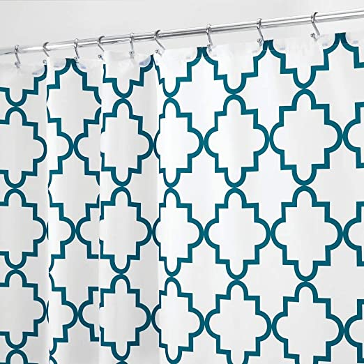 mDesign cortina de ba/ño antimoho Cortina ducha con 12 ojales resistente 180 cm x 200 cm Cortina ba/ñera impermeable color verde