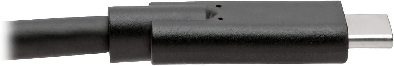 Tripp Lite USB C to USB Type C Cable 6ft USB 3.1 Gen 1 5A 5 Gbps M//100W Black U420-006-5A