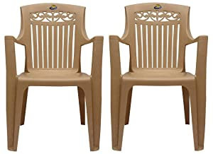 PRIMA - Platinum Chair (Beige Color) - Set Of 2.