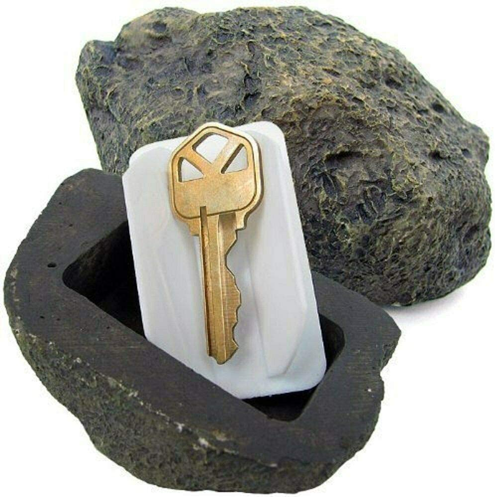 FingerLakes Hide-A-Spare Key Fake Rock - Looks, Feels & Weighs Like Real Stone - Safe for Gardens, Yards, Geocaching