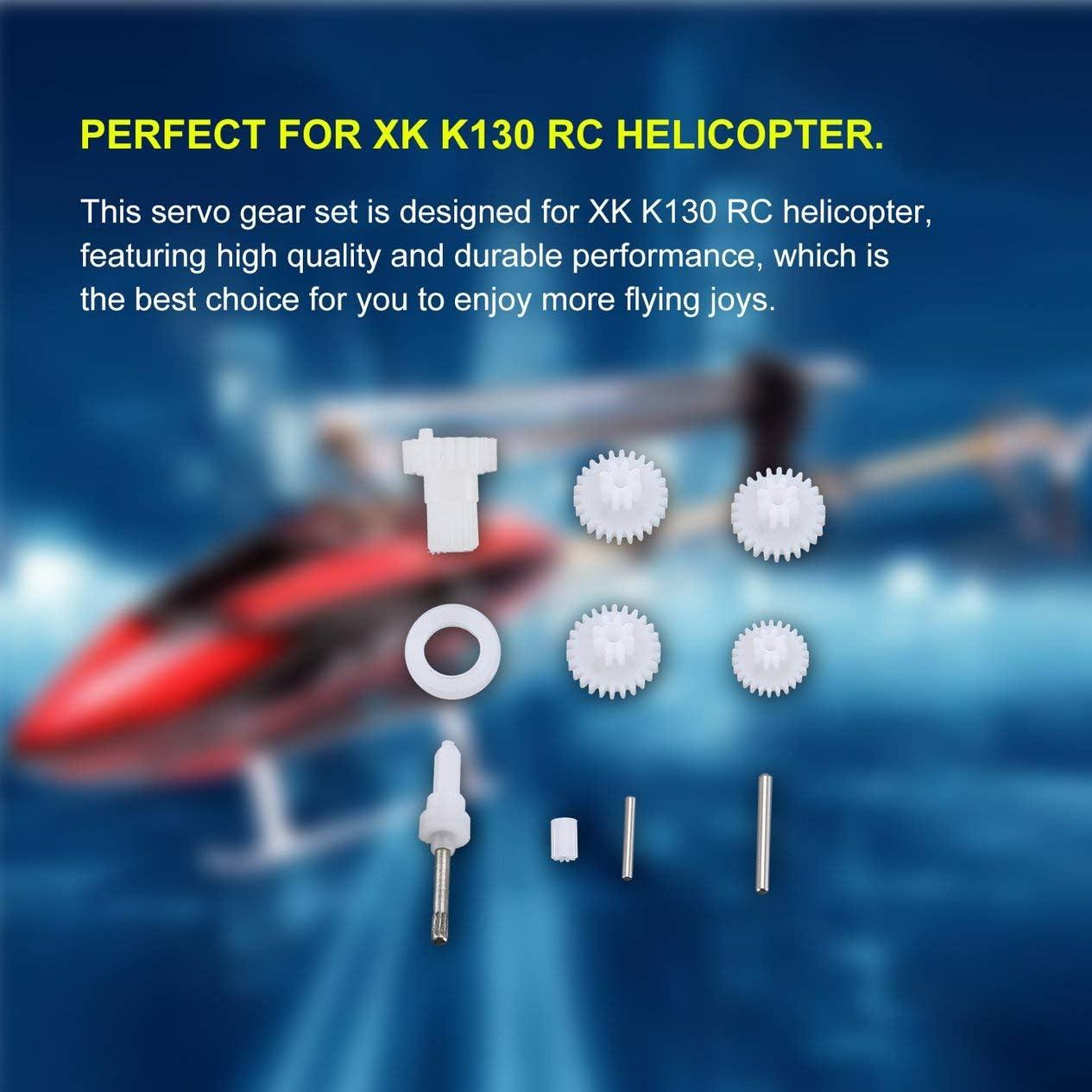 T-Power Kunststoff-Servo-Zahnradsatz RC-Hubschrauberteile Zubeh/ör f/ür XK K130 RC-Hubschrauber RC-Drohne Wei/ß-Wei/ß BCVBFGCXVB