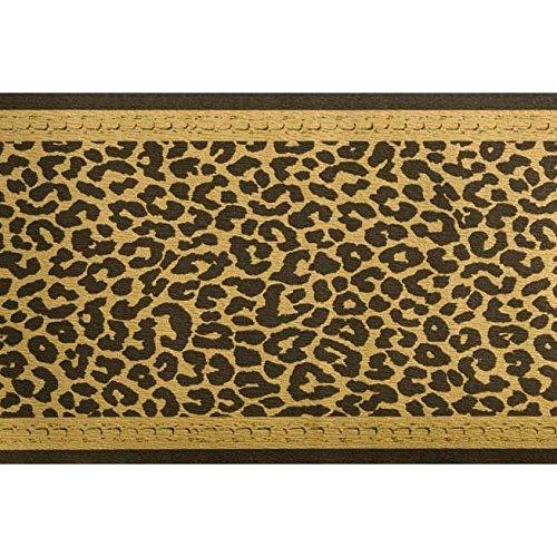 """1 ROLLE Tapeten Bordüre """"Leopard"""" Schwarz Gold WOHNDEKOR Bordüre"""