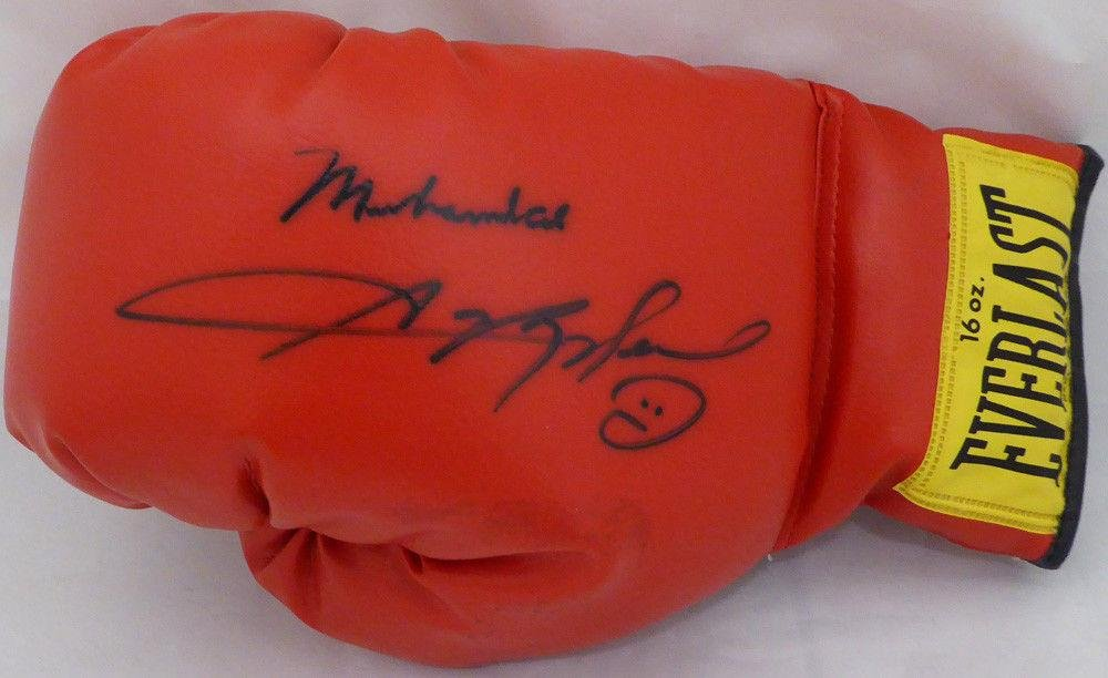 Muhammad Ali & Sugar Ray Leonard Autographed Everlast Boxing Glove #Z10250 JSA Certified Autographed Boxing Gloves