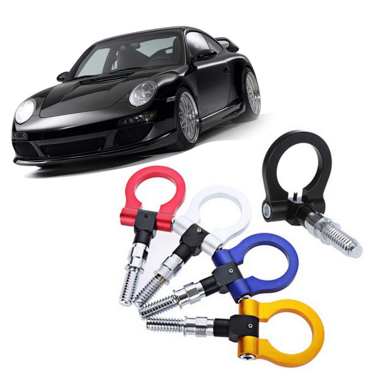 Fannty Gancho de Remolque Compatible para Carreras de Remolque de Carreras de Carreras Adecuado Compatible para el Anillo de Remolque de autom/óviles de autom/óviles Europeos BMW
