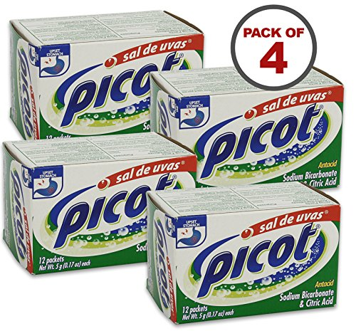 Picot 5 Gram Packets Sal De Uvas 12 Count, Pack of 4