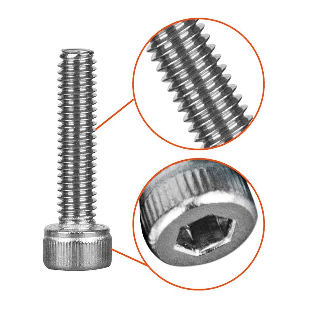 M5*20mm Sechskantschrauben Edelstahl 304 Maschinenschrauben Gewindeschrauben Voller Thread Schrauben und Muttern Schraube 70PCS, Mutter 70PCS
