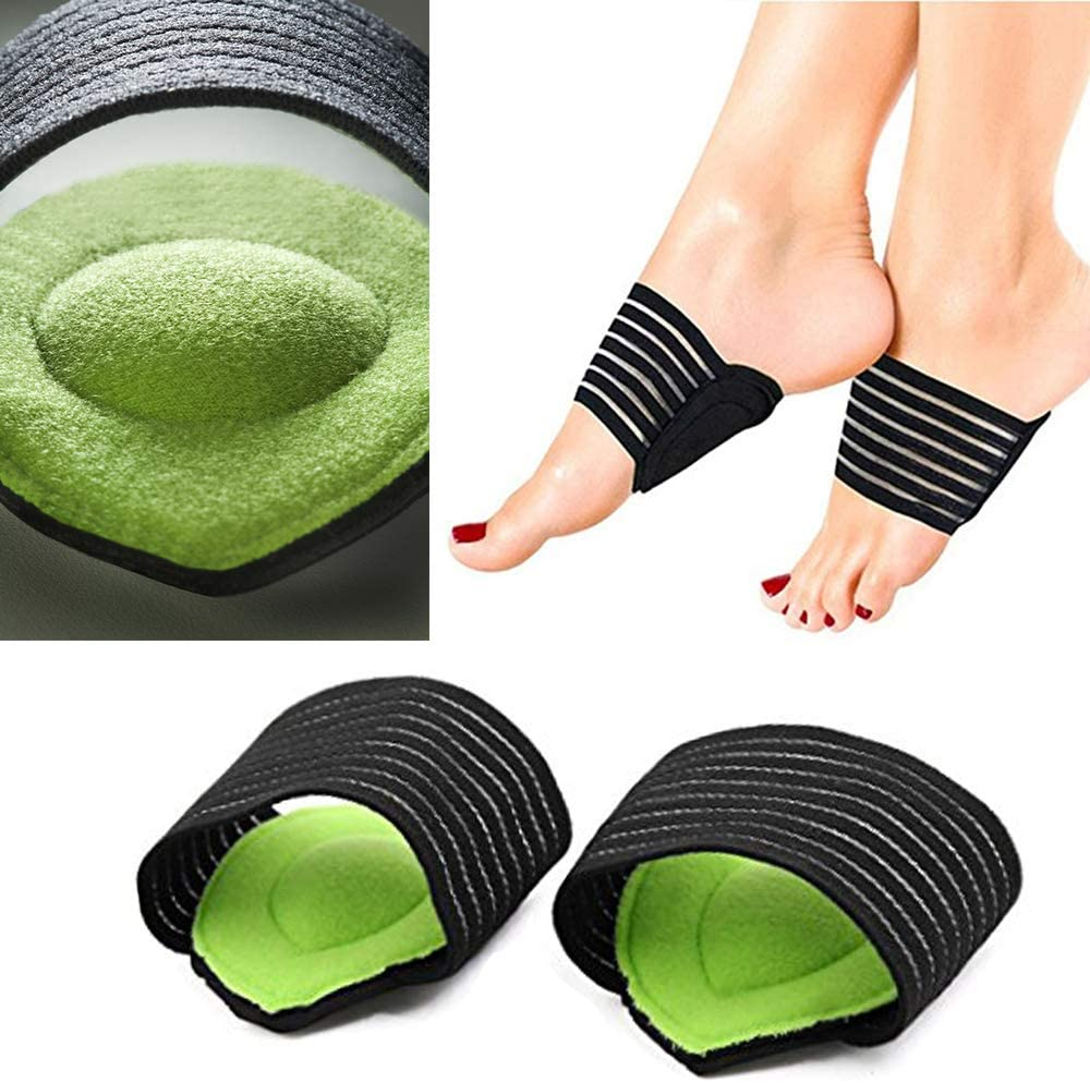 Arch Support Compression Plantar Fasciitis Extra Thick Cushioned Arch Support Sleeves for Men and Women by JERN - Flat Feet Pain Relief, Achy Foot Support Insoles, Fallen Arches, Heel Spur (1 Pair): Health & Personal Care