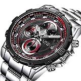 Watches Men Fashion Sport Quartz Chronograph Mens Watch Luxury Brand Steel Business Waterproof Men's Watch