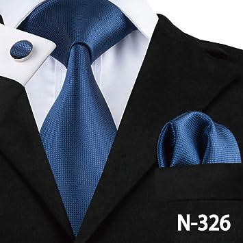 AK Hombres S Tie Tie Blue Corbatas para hombre 8.5Cm Classic Men ...