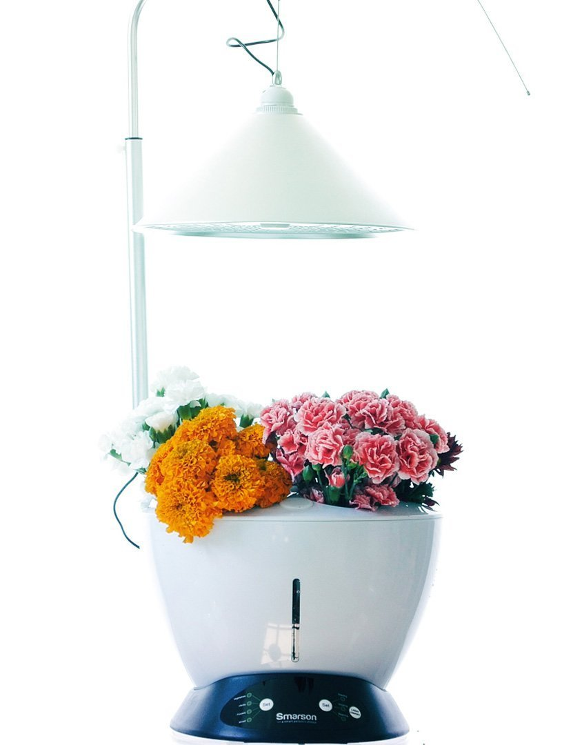 Smarson Indoor LED Light Hydroponic Garden, Grow Herbs, Vegetables and Flowers, Large, White