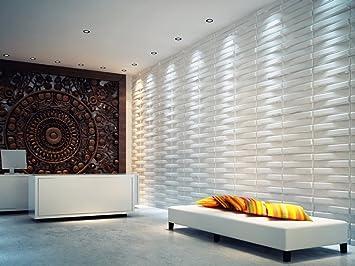 Set da 12 pannelli decorativi Bladet 3D per muri interni, 100 ...