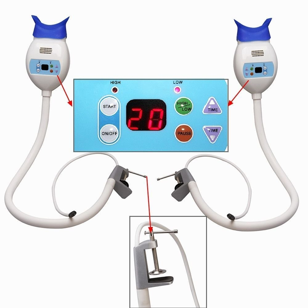 BoNew 2PCSTeeth Whitening Accelerator Bleaching System LED Lamp Blue Light USA WAREHOUSE