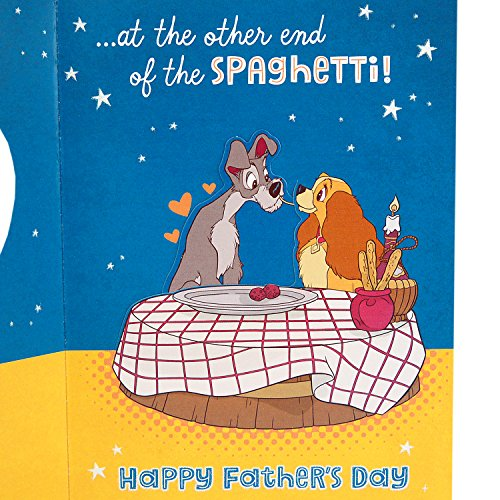 Hallmark Funny Father's Day Greeting Card for Husband or Significant Other (Disney Lady and the Tramp) Photo #6