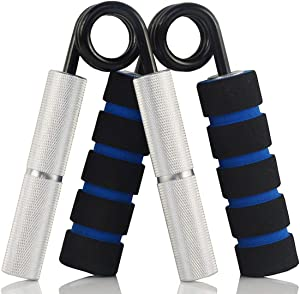 YZLSPORTS Hand Grip and Wrist Strengthener - Resistance from 50-350 lb Metal Exerciser for Hand, Forearm, and Fingers,Silver Stainless Steel