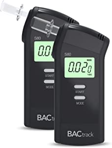 BACtrack S80 Breathalyzer (2 Pack) | Professional-Grade Accuracy | DOT & NHTSA Approved | FDA 510(k) Cleared | Portable Breath Alcohol Tester for Personal & Professional Use