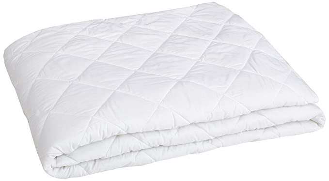 CarryWishiya Quilted Cotton Double Bed Cover with Elastic Band Double Bed - White