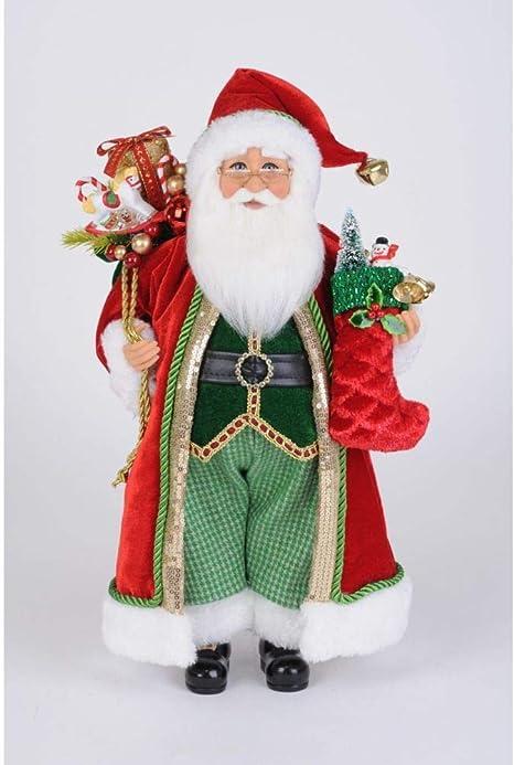 13 Inches Handmade Christmas Holiday Home Decorations and Collectibles Karen Didion Originals Nutcracker Santa Figurine