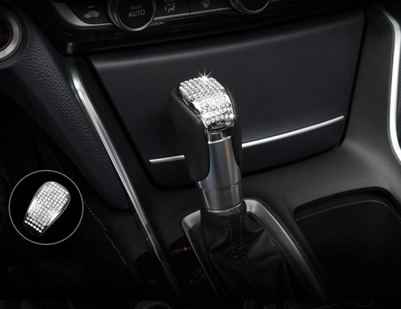 HAILWH Bling Interior Accessories Fit for Honda Accord Inspire Sport EX EX-L Touring Sedan 2018-2019 3D Rhinestone Knob Cover Applique Cover 1PC//Set Central Storage Box Decoration Strip