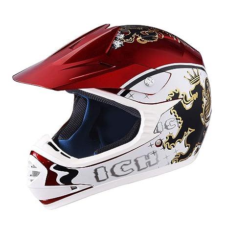 Amazon.com: AHR DOT Casco de motocross juvenil de rostro ...