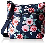 LeSportsac Small Cleo Handbag Cross Body, Navy Rose, One Size