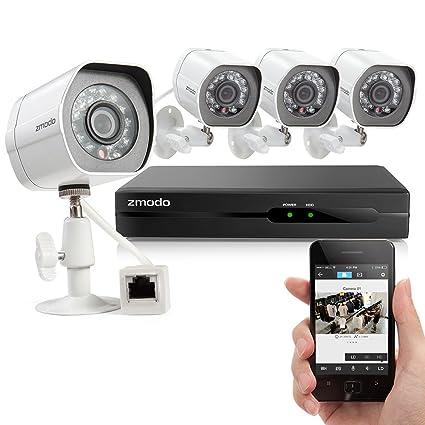 Zmodo 720 P HD-cámara de seguridad-sistema con 4 interior/al aire